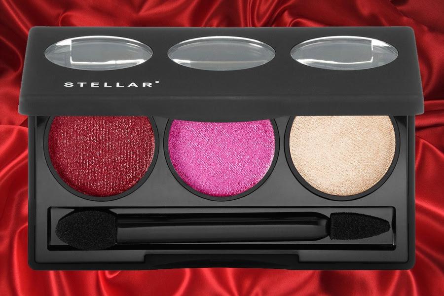 STELLAR Stardust Lip Powder Palette Swatches