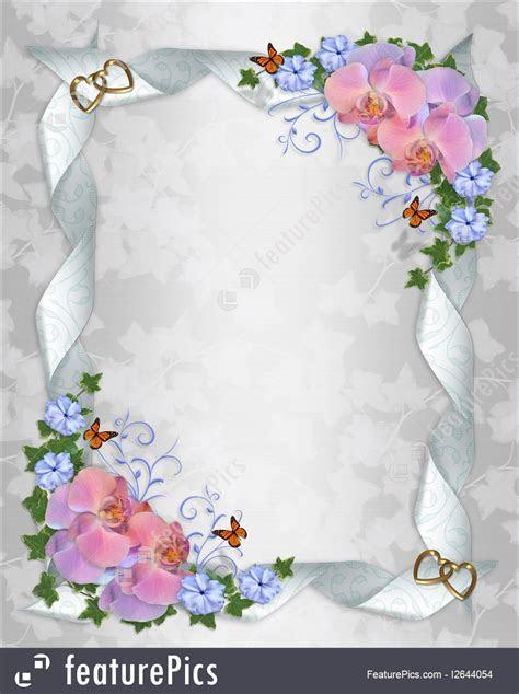 Templates: Wedding Invitation Border Orchids   Stock