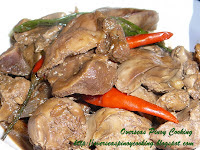 Chicken Gizzard Liver Adobo