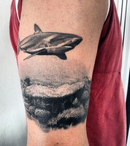 Great White Shark Tattoo Designs