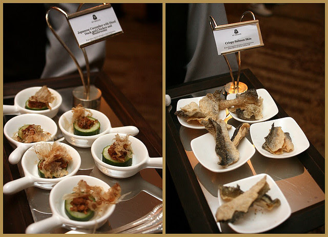 Little hor d'oeuvres while the guests mingled at the reception...
