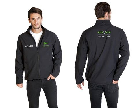 embroidered soft shell jacket including  logo