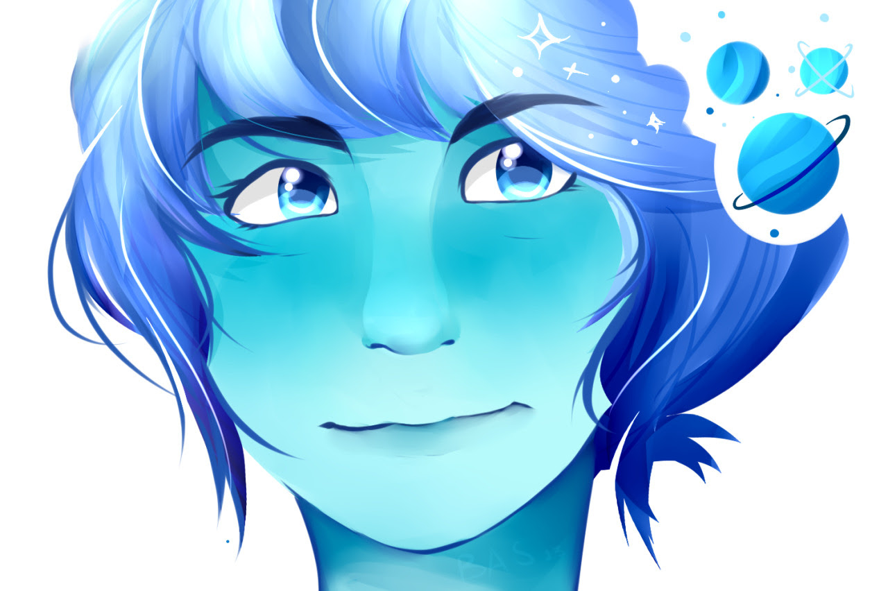 Lapis Lazuli!! A Collab with my sister :DD She sketched, I colored! ^w^
