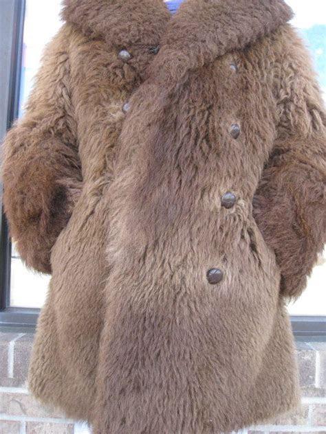 mens authentic buffalo fur coat  robe
