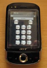 Mobilní telefon s dotykovým displejem, zpřístupněný pomocí aplikace PST