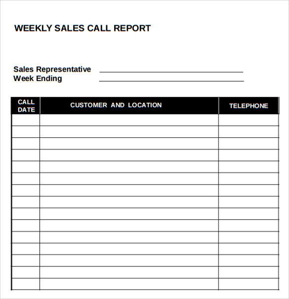 Daily Sales Visit Report Format | Daily Planner