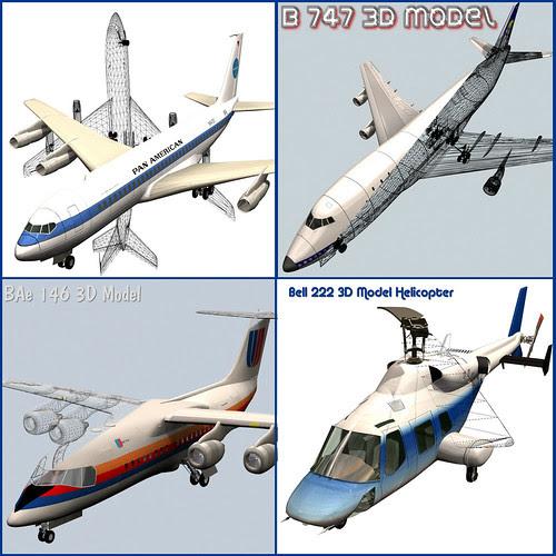 3D Model Civilian Aircraft by ProLithic 3D