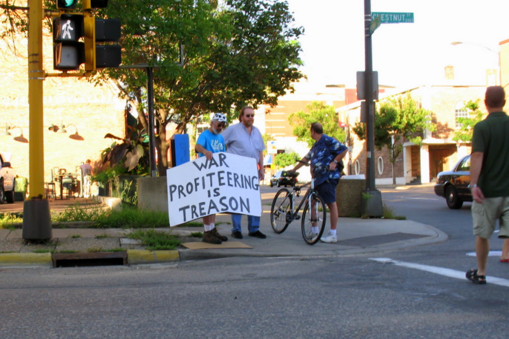 The first protester I sighted before the RNC started in 2008.