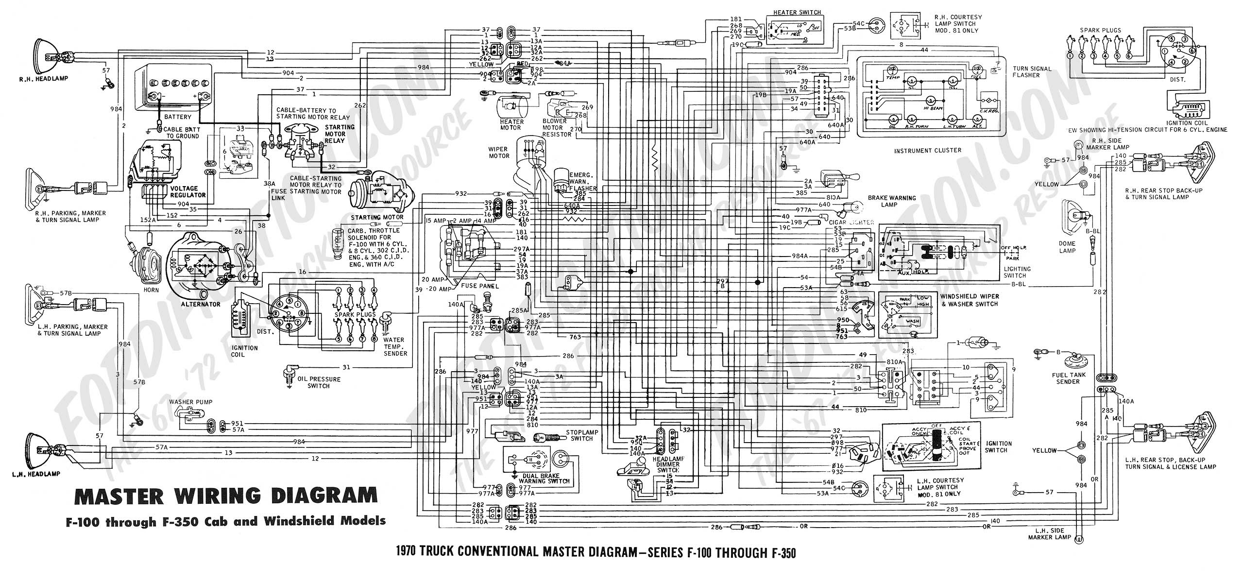 1970 Ignition Switch Diagram Ford Truck Enthusiasts Forums