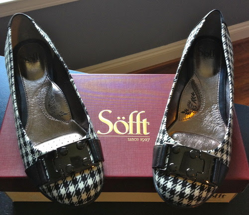 Sofft Palina Houndstooth Black and White flats