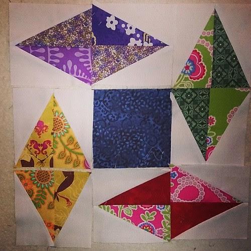 Scrappy Box Kite block from Modern Blocks #quilt