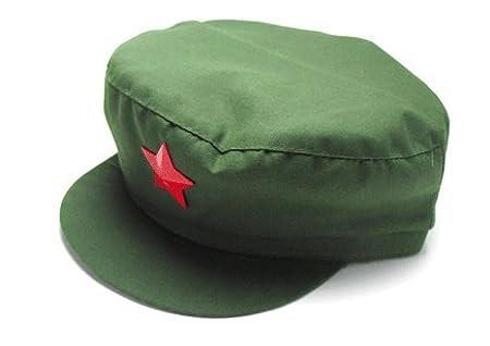 人民帽 【Mサイズ】 中国人民解放軍タイプ 中国コスプレ 中国帽子 星徽章
