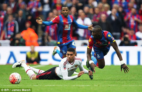 Image result for smalling vs crystal palace red