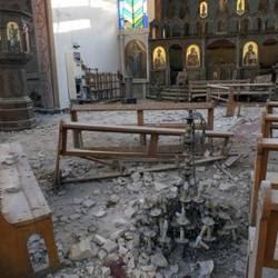 Chiesa armena bombardata