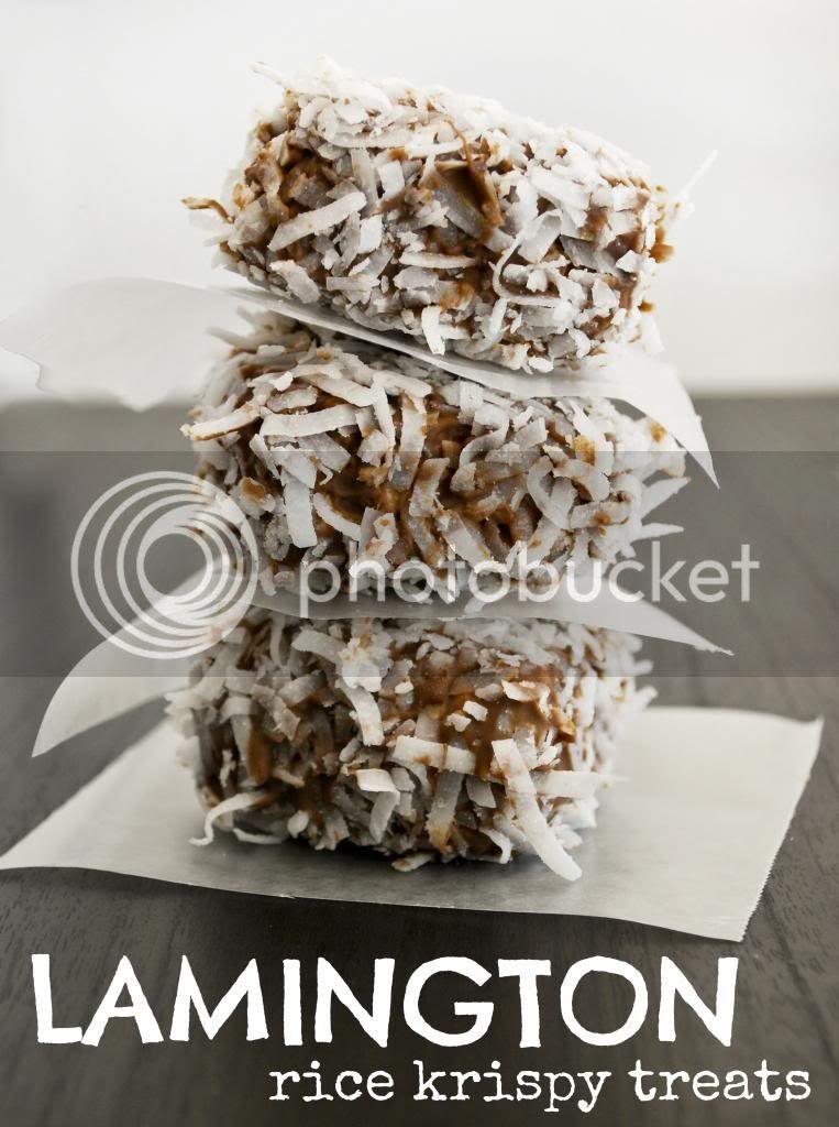 Lamington Rice Krispy Treats