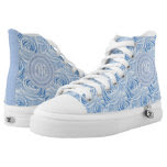 Personalize Girly Blue Rose Floral Abstract Printed Shoes
