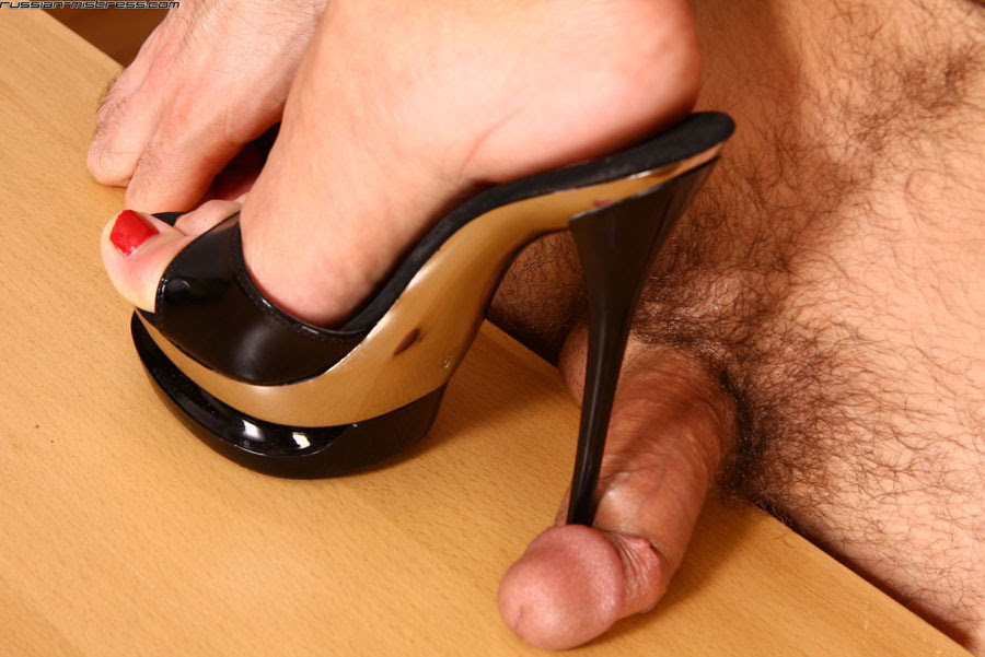 Nylon High Heels Footjob