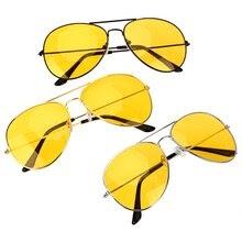 Anti-glare Polarize Sunglasses Copper Alloy Car Drivers Night Vision Goggles