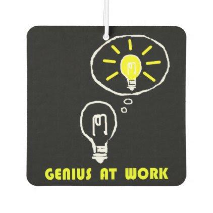 Genius at work air freshener