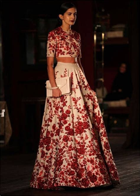 This Sabyasachi floral skirt is just poised for perfection