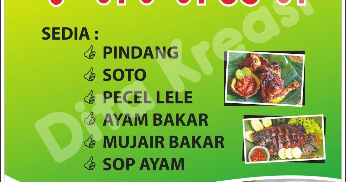 Contoh Spanduk Jual Makanan Ringan - gambar spanduk