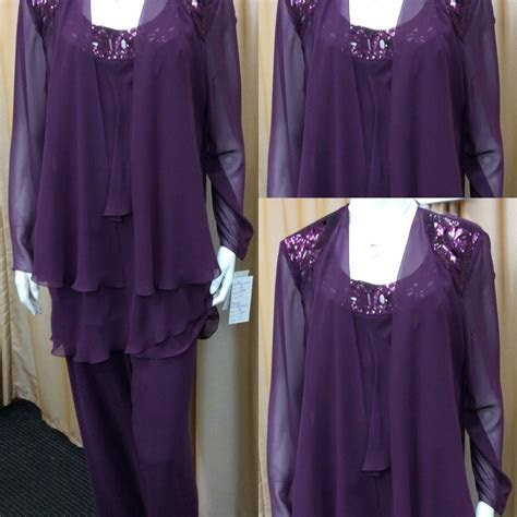 2015 Free Shipping Purple Beaded Long Sleeve Plus Size