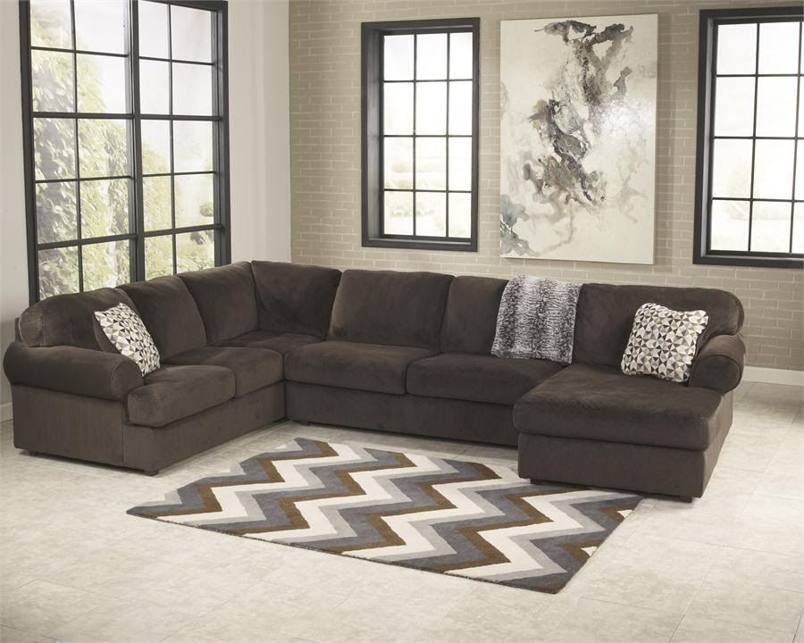 Rent Signature Design Jessa Place Sectional With Chaise Chocolate