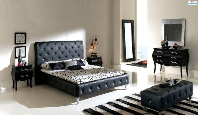 Made in Spain Leather Modern Design Bed Set with Extra Storage ...