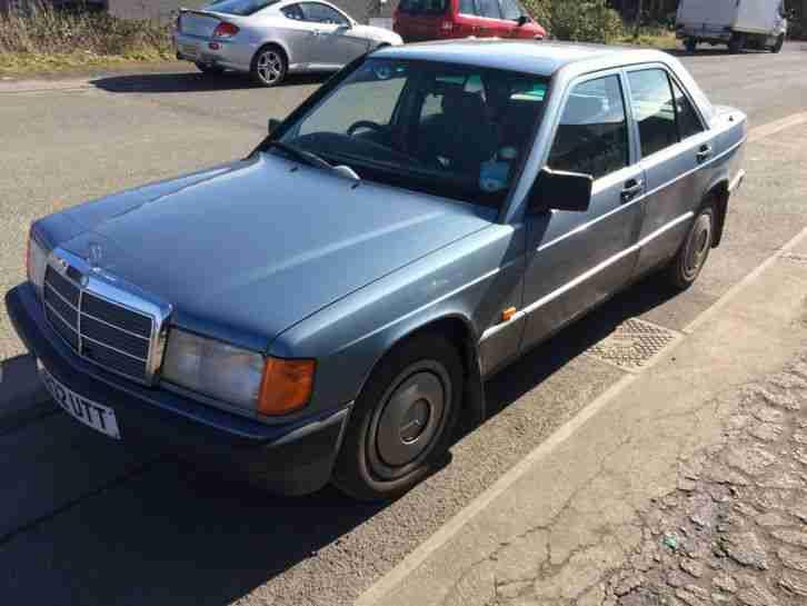 1990 MERCEDES 190E AUTO BLUE. car for sale