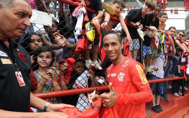 Liedson treino Flamengo (Foto: Alexandre Vidal / Fla imagem)