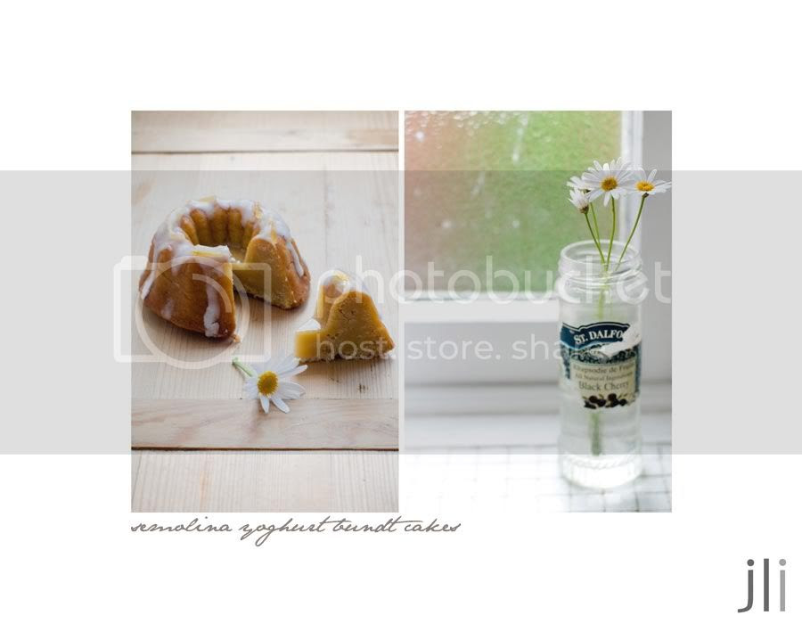 semolina yoghurt bundt cakes