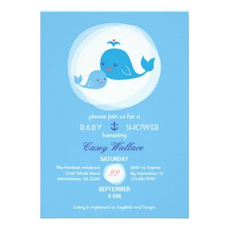 Cute Whale Baby Shower Invitation