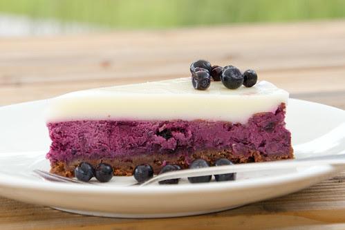 Bilberry cheesecake / Blueberry cheesecake / Mustika-toorjuustukook