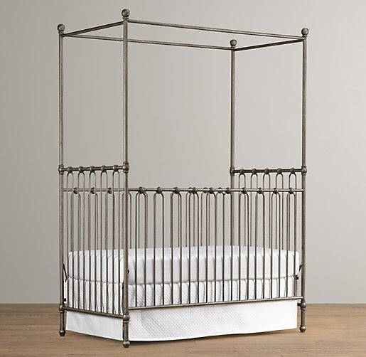 Martine Iron Canopy Crib
