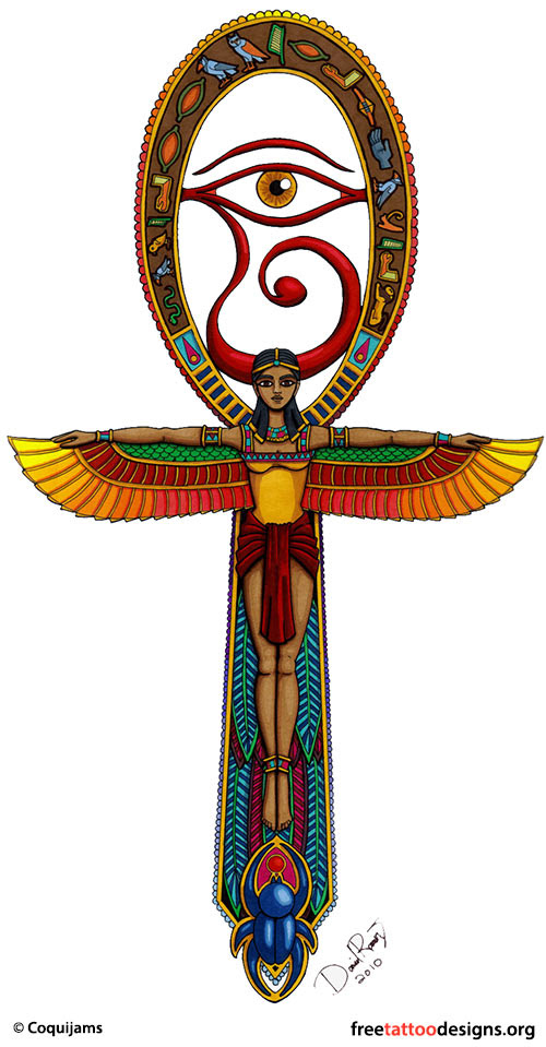 Egyptian Art Tattoos Ankh Phoenix Eye Of Horus Tattoo Designs