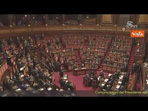 """Draghi: """"Ringrazio Conte, ha affrontato emergenza mai accaduta"""". La reazione in Aula"""