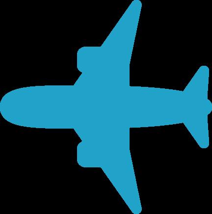 飛行機イラストシルエット 飛行機雲 と雲の矢印付き 可愛い無料