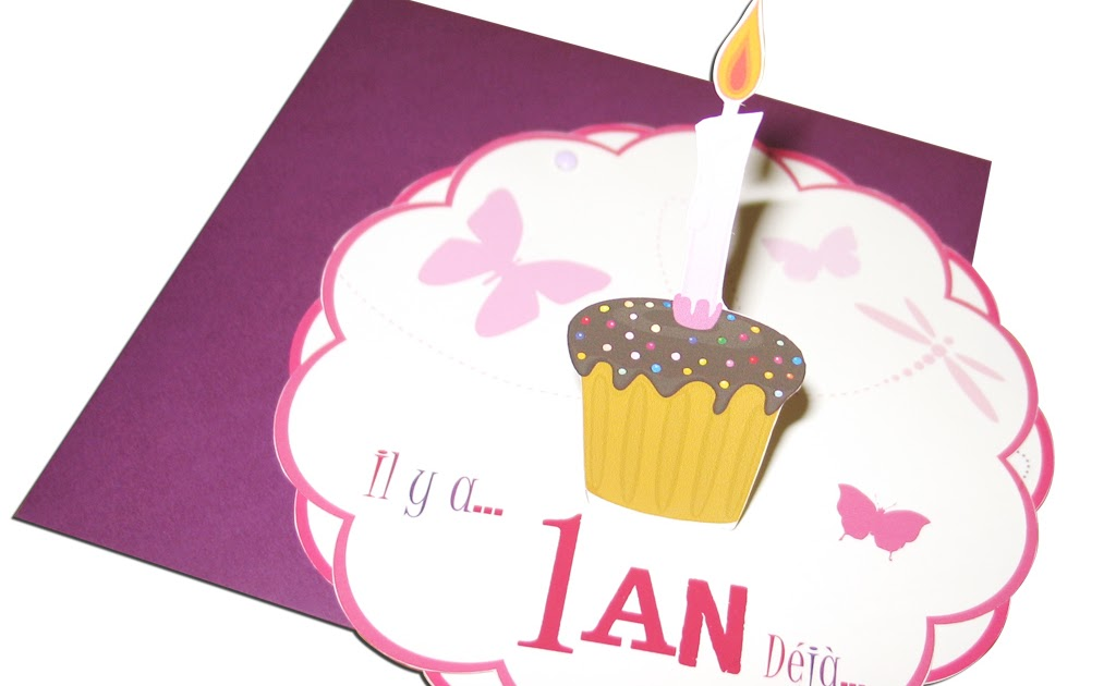 Invitation Anniversaire Bebe Fille 1 An - Crysta Yoshie