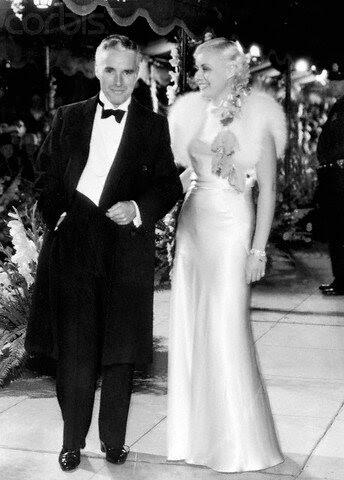 Paulette Goddard and Charlie Chaplin in Formal Attire