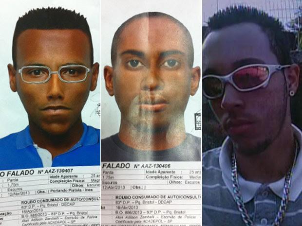 Imagens de suspeitos de matar dentista em São Bernardo do Campo (Foto: Divulgação)