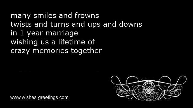 First Wedding Anniversary Poems Husband 1 Year Marriage Quotes