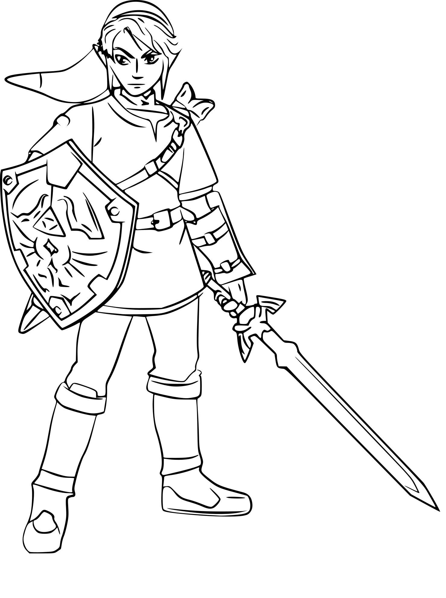 Coloriage Zelda Link A Imprimerll