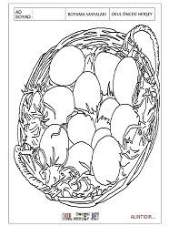 Yumurta Boyama Sayfaları