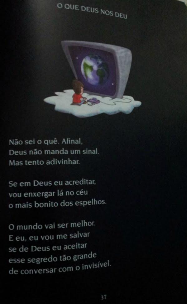 """deus - a maquina de brincar Livro infantil distribuído em escolas públicas chama o diabo de """"amigo"""" e Deus de covarde"""