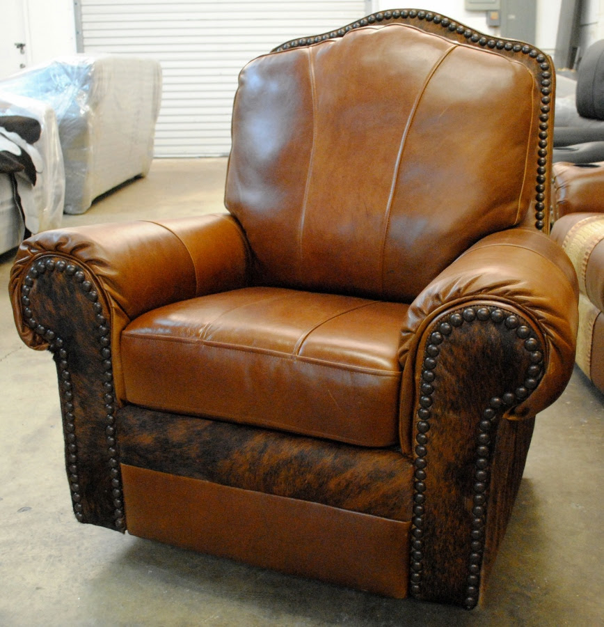 recliner leaher cowhide with hair