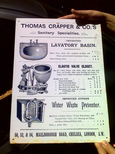 Thomas Crapper Co Tin Sign