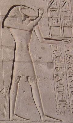 Los egipcios usaban el color para curar