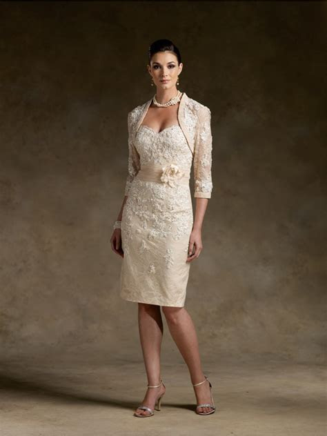 Elegant Knee Length / Short Lace Mother of The Bride