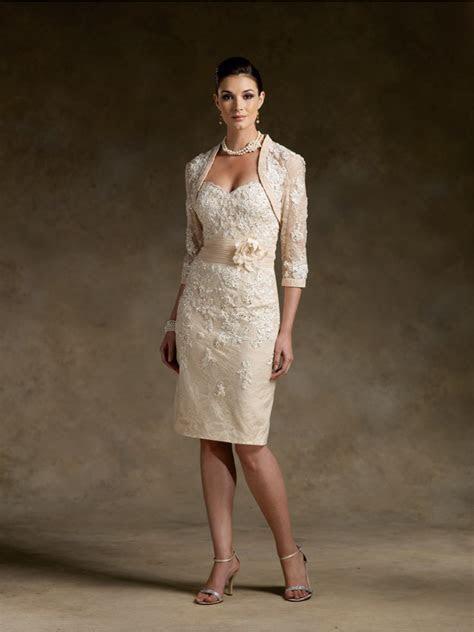 Elegant Knee Length / Short Lace Mother of The Bride