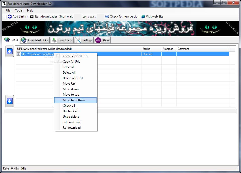 Rapidshare Auto Downloader screenshot 1
